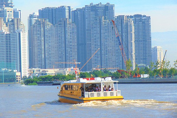 Discovering the first water bus service in HCMC